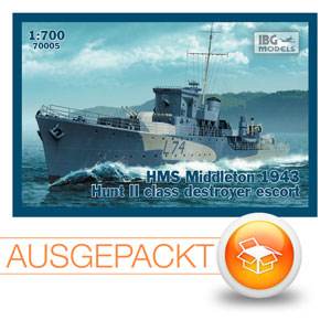 IBG Models 70005: HMS Middleton - 1943 - Hunt II Klasse Zerstörer